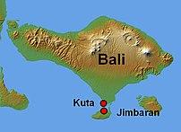 Location in Bali