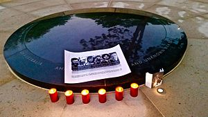 Balibo Five - Candles burn to mark the 40th anniversary of their deaths, 2015.
