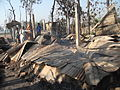 Banshkhali Hindu family house burned by Islamist terrorist on 28 Feb 2013, at Chittagong.jpg