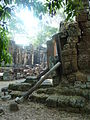 Banteay Kdei - 002 Propped-up Wall (8582323752).jpg