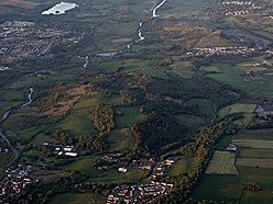 Bar Hill from the air (geograph 4517293).jpg