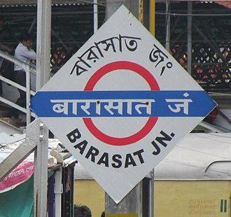 Barasat Junction railway station - Barasat Junction platformboard
