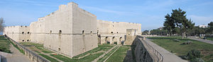 Barletta - View of the Fortress with its gardens