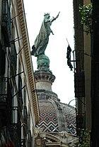 Basílica de la Mercè des del carrer d'en Carabassa