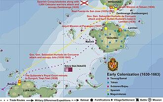 Isabela, Basilan - Basilan Island 1630-1663