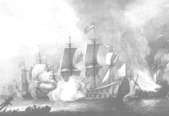 Battle of Bantry Bay - Battle of Bantry Bay by Adriaen van Diest.
