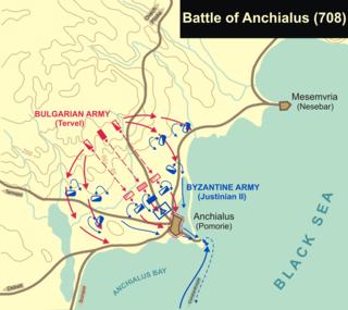 Battle of Anchialus (708)