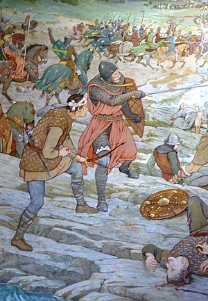 Battle of Largs - Image: Battle of Largs (detail), 1263