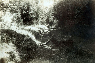 Battle of Zapote River - Part of the trenches used by the Filipinos south of the bridge.