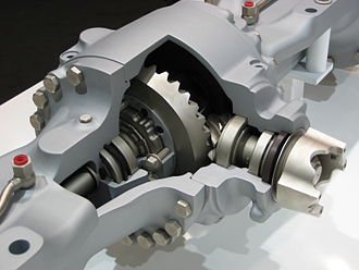 Limited-slip differential - ZF LSD – clutch stack visible on left