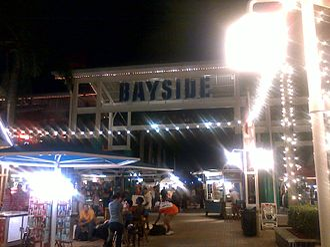 Bayside Marketplace - Bayside Sign at night