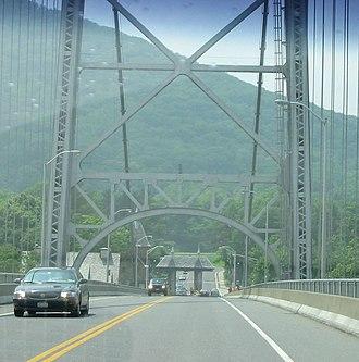 Bear Mountain Bridge - Image: Bear Mountain Bridge WB