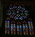 Beauvais - La Cathédrale Saint-Pierre de Beauvais - Central Crossing of Choir & Transepts - ICE Fisheye Viewing on Rose Window in South Transept.jpg