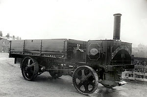 Belfast and County Down Railway - Railway-owned steam driven lorry, early 20th century.