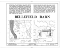 Bellefield Barn, Old Post Road, Hyde Park, Dutchess County, NY HABS NY,14-HYP,7- (sheet 1 of 5).png