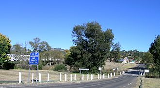 Bendemeer, New South Wales - The two bridges across the Macdonald River at Bendemeer