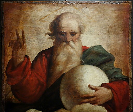 Benediction of God the Father by Luca Cambiaso, c. 1565, oil on wood - Museo Diocesano (Genoa) - DSC01566