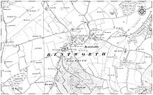 A map of Bentworth's parish as it appeared 1811