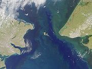 Satellite photo of the Bering Strait
