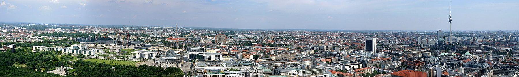 Berlin hiriko erdigunearen irudi panoramikoa.