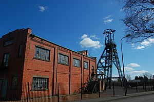 North Wales Coalfield - The engine house and winding gear at Bersham Colliery