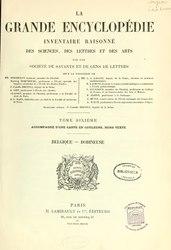 Berthelot - La grande encyclopédie - (1885-1902) - Tome 6