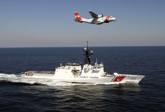 Coast guard - USCG National Security Cutter USCGC Bertholf (WMSL-750) and a EADS HC-144 Ocean Sentry