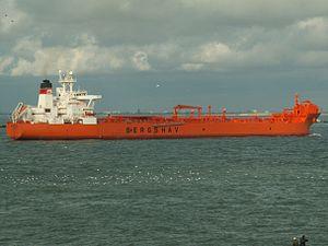 Bertora p2 approaching Port of Rotterdam, Holland 10-Aug-2005.jpg