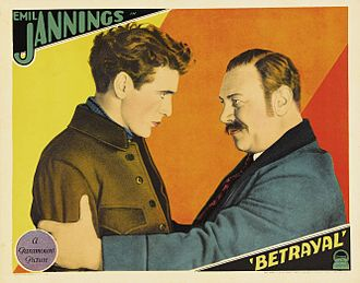 Betrayal (1929 film) - Lobby card