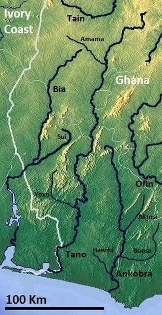 Bia River - Image: Bia Tano Ankobra OSM