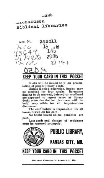 File:Biblical Libraries (Richardson).djvu