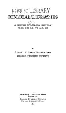 Biblical Libraries (Richardson).djvu