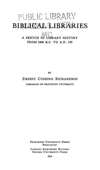 File:Biblical Libraries (Richardson).djvu