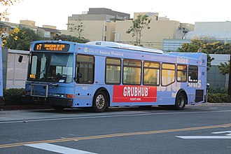 Big Blue Bus - Rapid 7 on layover (bus 4022 retired).