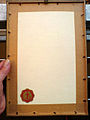 Bild(ungs)-Dokumente-Stiftung, Incisione Giorgio Guglielmo Duca di Brunswic e Luneburg, b, Kupferstich im Rahmen von hinten.jpg