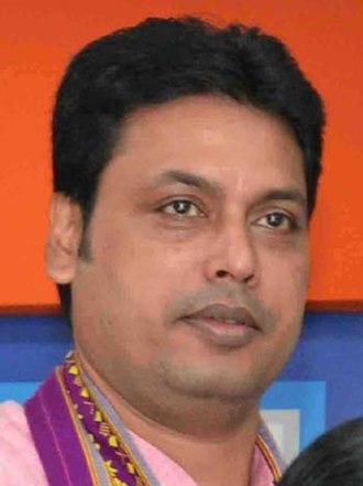 Biplab Kumar Deb - Image: Biplab Kumar Deb in 2018