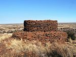 The dry stone walled, circular blockhouse at Danielskuil is rare, if not unique remaining example of On 5 January 1901, a boer force attached the outnumbered garrison but were forced to withdreay becau Type of site: Blockhouse Previous use: Military : ABW Blockhouse. Current use: Military. It was erected by the British Garrison stationed there during the Anglo-Boer War (1899-1902) under t