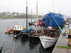 Boats at Kilkieran quay - geograph.org.uk - 1424606.jpg