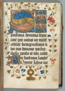Book of Hours (Use of Metz) Fol. 27r, Decorated Initials.tif