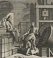 Books being packed into barrel in 1698 detail, Fotothek df tg 0008534 Ständebuch ^ Beruf ^ Handel ^ Buch ^ Buchhandel (cropped).jpg