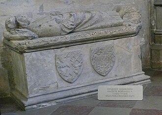 Bořivoj II, Duke of Bohemia - Image: Borivoj II, Duke of Bohemia nahrobek