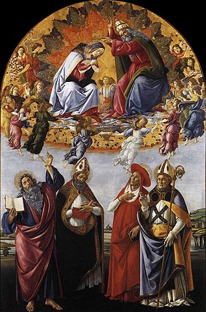 Ad Caeli Reginam - Botticelli, the coronation of the Virgin