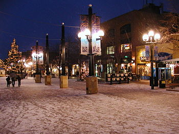 Pearl Street Mall in Boulder, Colorado.