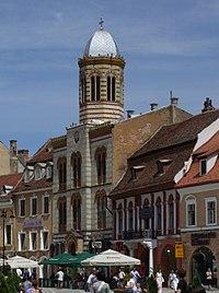 Braşov (Kronstadt, Brassó) - the Orthodox church of the Dormition of the Theotokos.JPG