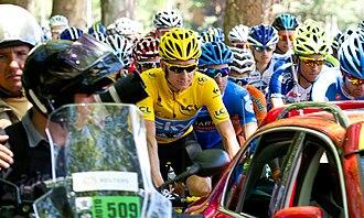 2012 Tour de France, Stage 11 to Stage 20 - Image: Bradley Wiggins leads the Tour de France