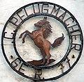 Braunschweig Brunswick Firmenschild mit Sachsenross.jpg