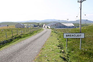Breaclete village in the Outer Hebrides, Scotland, UK