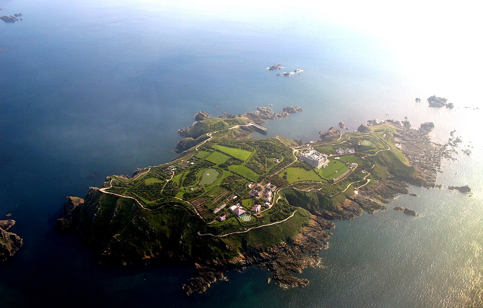 Brecqhou from the air