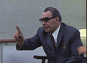 Attempted assassination of Leonid Brezhnev - Leonid Brezhnev (1906–1982); photo c.1973