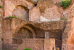 Brick walls and vaults Forum Romanum Rome Italy.jpg